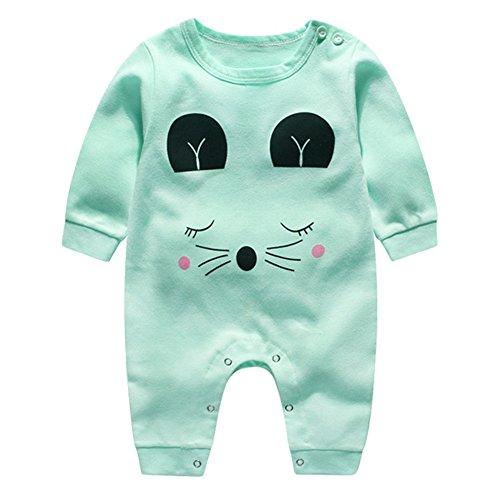 Weihnachten Baby Strampler - Nachtwäsche Kleidung Mädchen Jungen Baumwolle Pyjamas Tier Stil Outfit Overall 0-12 Monate (Outfits Prinzessin Der Frosch Und)