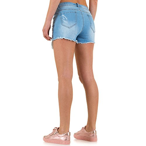 Destroyed Hot Pants Jeans Shorts Für Damen bei Ital-Design Blau