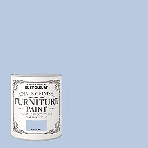 Rust-Oleum Chalk Chalky Furniture Paint Powder Blue 750ML