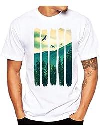 Camiseta Blusas De Verano para Hombre Imprimir Camisetas Manga De Camisa De Corta Ropa Ocio Moda