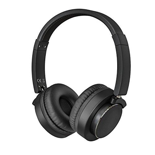 MoKo Cuffie con Filo Condivisione Musica, Cuffie Over-Ear Stereo Pieghevole con Microfono e Filo Condivisione per Tablet, Smartphone, Laptop, PC, Computer, PSP, PS4, Xbox, ecc – Nero