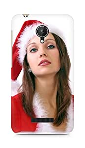 Amez designer printed 3d premium high quality back case cover for Micromax Canvas Spark Q380 (Santa Girl 6)