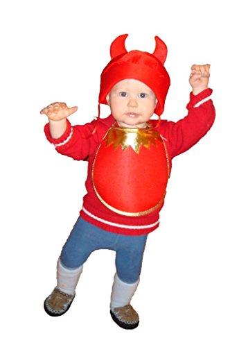 Seruna Kleiner Teufel Kostüm für Halloween, Kostüme für Kinder, Faschingskostüm, Karnevalkostüm