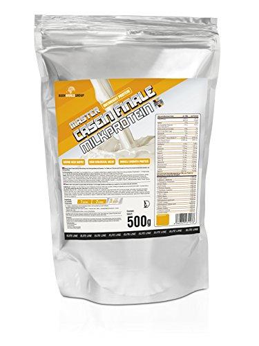 BWG Master Casein Finale Milkprotein (overnight protein), Elite Line, Chocolate-Delicious-Cream, 500 g, 1er Pack (1 x 500 g) (Erdbeer-saft-konzentrat)