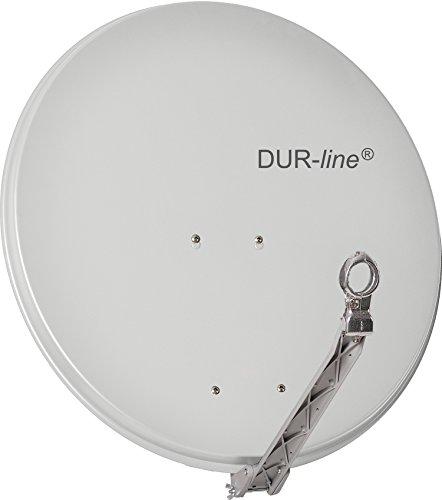 "DUR-line SELECT 75cm Hellgrau - 3 x Test ""Sehr gut"" - Aluminium Satellitenschüssel Parabolantenne"