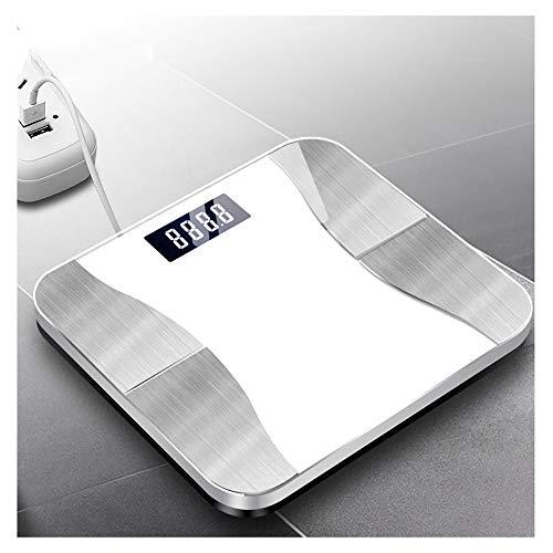 CGGDP Gesundheit Elektronische Waage, Bluetooth Körperfettwaage Messung des Körpergewichts Wasserfett BMI Skelettmuskelrate Knochenmasse Viszeral etc,Gray Gray Terminal
