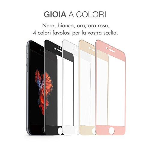 multifun 2 Pack Pellicola Protettiva per iPhone 6 6plus,Pellicole Protettive in Vetro Temperato Resistente,Schermo Protezione Alta Qualità,Screen Protector Ultra Sottile 0.02cm (iPhone 6Plus, Nero) rose gold