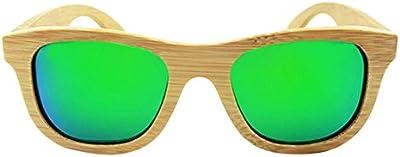Verde Vintage Hombre Mujeres bambú gafas de madera gafas de sol polarizadas regalo F5