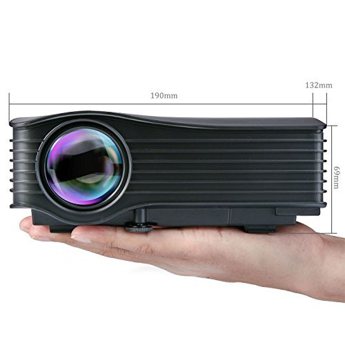 Deeplee DP36 LED LCD Mini Projector  120  Home Theater Video Projector with AV USB SD Card HDMI for Home Cinema Video Game Courtyard Movie Night support PC Laptop PS3 PS4 Xbox Wii Projector  DP36 Black