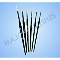 Pack Of 10 White Synthetic Sable Substitute Size 2 Round Brushes