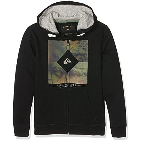 Quiksilver Diamond Day Zip Youth - Sudadera con capucha y cremallera para niño, color negro, talla