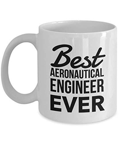 Regalos de ingeniero aeronáutico de taza de porcelana: la mejor taza de café, ideas de regalo de agradecimiento para cumpleaños de Navidad, taza de 11 oz