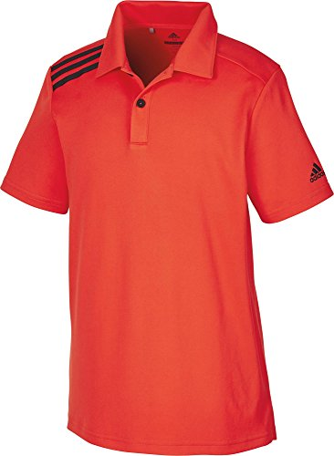 adidas Boys 3 Stripes Solid Polo Golf, Kinder XS rot