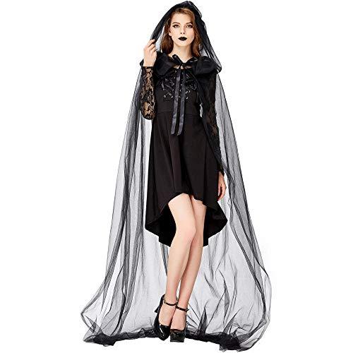 JRKJ Halloween Dark Vampire Hexe Maskerade Elf Lady Kostüm @ S (Dark Elf Kostüm)