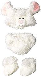 Princess Paradise Unisex Baby Cuddly Lamb Diaper Cover Set, White, 0/3 Months