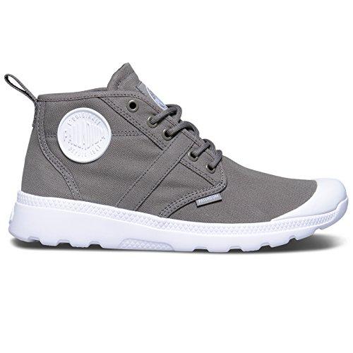 Palladium Pallaville Hi Deux, Sneakers Basses Mixte Adulte Metal/White/White - Grey