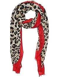 78da569d5fa9de Vanessa & Melissa Leichter sommerlicher Damen Schal in frischen Farben in Leopard  Muster