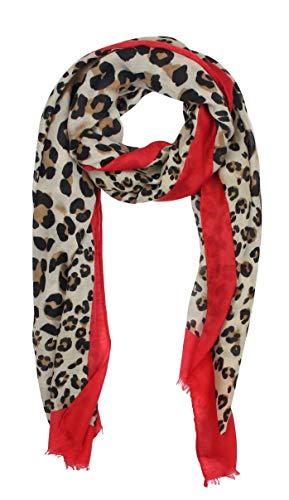 Vanessa & Melissa Leichter sommerlicher Damen Schal in frischen Farben in Leopard Muster