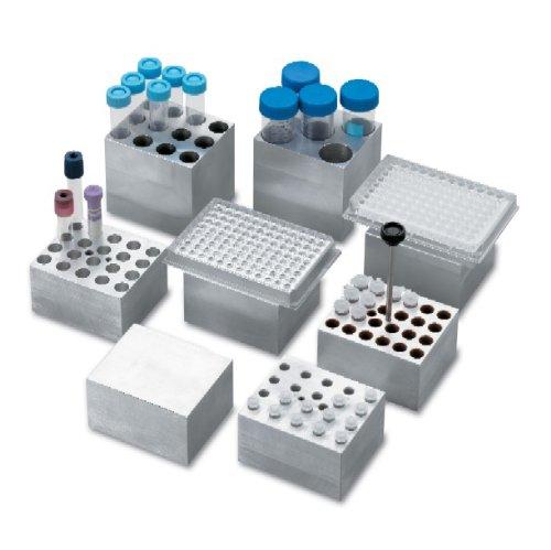 labnet d1105a Aluminium Dry Bad Block für accublock Digital trockene Bad, fasst 24x 1,5ml Tube (Digitale Trockene Bäder)
