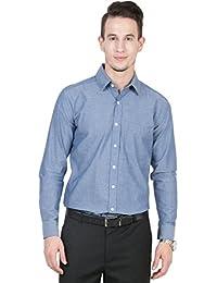 IRALZO Light Blue Regular - Chambray Formal Shirt
