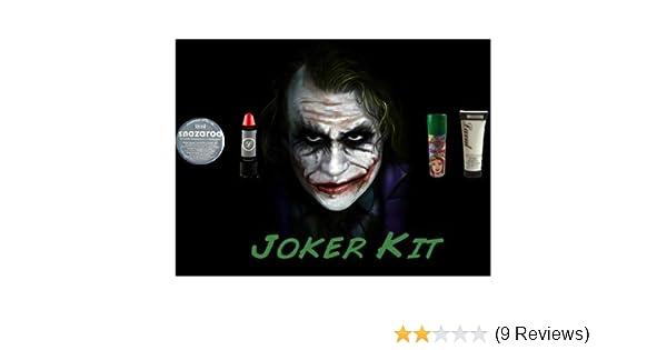 Halloween Joker Complete Make Up Kit Includes White Make Up Cream