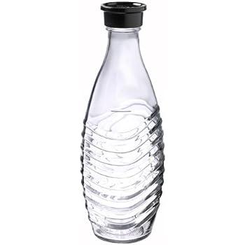SodaStream 0,6L Glaskaraffe spülmaschinenfest mit fest schließendem Deckel für Wassersprudler wie Crystal oder Penguin!