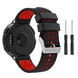 YaYuu Garmin Forerunner 235 Bracelet de Montre, Bracelet de Remplacement Watch Band Bande de Montre en Silicone avec Outils pour Forerunner 235/220/230/620/630/735XT Montre de Running GPS