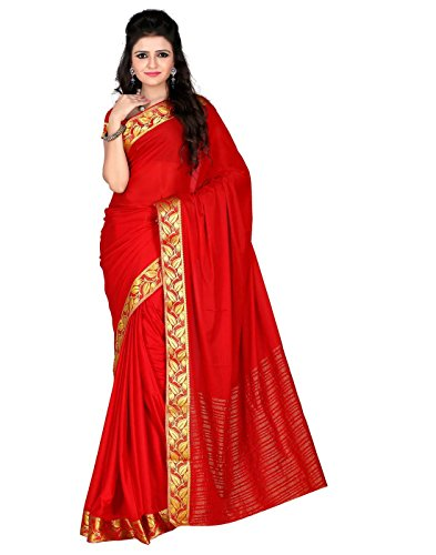 Roopkala Silks & Sarees Crepe Saree (Sv-1505_Red)