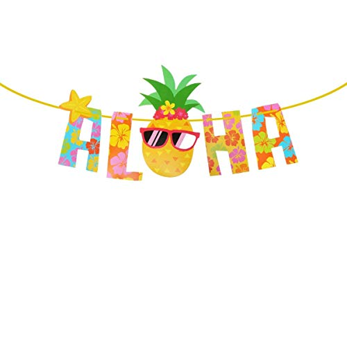 EMAGIE Luau Foto-Requisiten-Set, Hawaiianische Leis/Tropical/Tiki/Sommerfeste, Festivals, Strand, Pool, Geburtstag, Urlaub, Party, Hochzeit, Dekoration, Zubehör 5pcs mehrfarbig