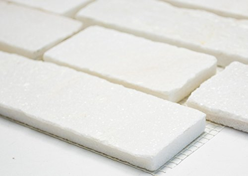 Mosaic Network White Natural Stone With Slate Wall Tile Backsplash Mosaic Tile Brick Facing Lounge Wall Floor Tile Splash Protected KITCHEN SHOWER WALL Mosaic Tile Backsplash Kitchen Bathroom Toilet