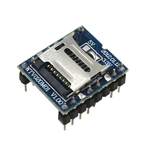 Demarkt WTV020-SD Sprachmodul SD-Karte Sprachmodul Spielkonsole Sprachmodul MP3-Modul (Arduino-sd-karte Mp3-player)