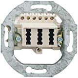 Rutenbeck 10210517–Steckdose 3x tae-6NFN Montage Einbau weiß Polar