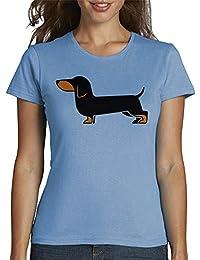 latostadora - Camiseta Teckel para Mujer