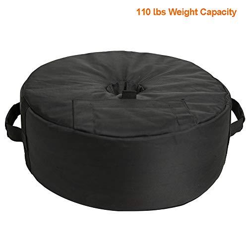 C-Hopetree Gewichtstaschen Terrassenschirm Bodengewichte Pop-Up Baldachin Sandsack für Zelte Outdoor Sonnenschutz Instant Pavillon Beine 4er Pack 110lbs schwarz - Springs Wohnwagen