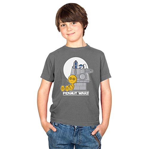 TEXLAB - Peanut Wars - Kinder T-Shirt, Größe M, (Die Ritter Jedi Solo Der Kostüm Rückkehr Han)
