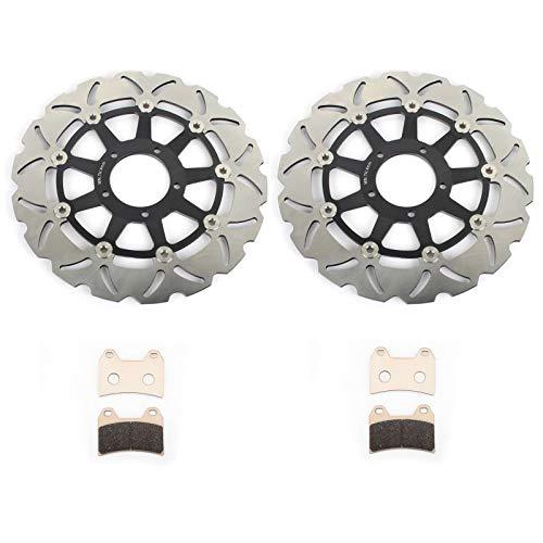 TARAZON Set di 2 Disco Dischi Freno Anteriore E Pastiglie per Ducati Hypermotard 796 2010-2013/1100 H7 2007 2008 2009