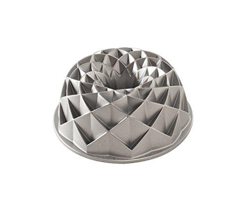 NordicWare 88337 Jubilee Bundt-Kuchenform, Aluminium, Silber, 27,9 x 14 x 5,4 cm Bundt Form Pan