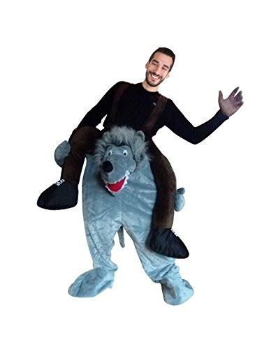 Carry me Wolf-Kostüm, F106, One Size, Fasnachts-Kostüme Tier-Kostüme, Wolfs-Kostüme Wölfe Kostüme Wolf-Faschingskostüm, Fasching Karneval, Faschings-Kostüme, Geburtstags-Geschenk Erwachsene