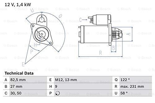 Bosch 0 986 018 340 Dmarreur
