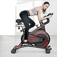 Nfudishpu Household Magnetic Control Spinning Bike, Silent Magnetic Control Exercise Bike, Weight Loss Trainin