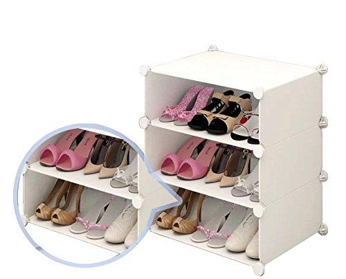 Inxact Armario Zapatero Para Zapatos, 3-6 Baldas, Color Blanco