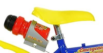 Feuerwehrmann Sam Kinderfahrrad Fireman Sam Jungenfahrrad - 12 Zoll | TÜV geprüft | Original Lizenz | Kinderrad mit Stützrädern - Das Fahrrad aus Fireman Sam als Geschenk für Jungen