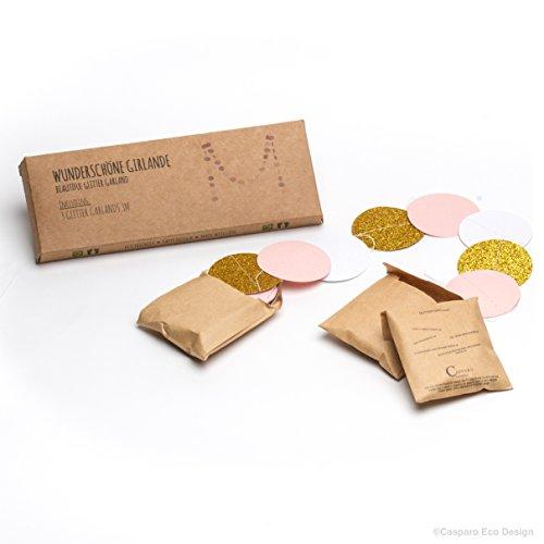 3 wunderbare Girlanden | 3 x 3m Glitzergirlande | umweltfreundlich & schnell aufgebaut | Die Girlande ist perfekt zum Geburtstag | Hochzeit | Baby Shower | perfekt als Pompom Alternative | Weihnachtsdekoration - 3