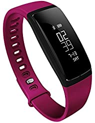 KOBWA Fitness Armband,Fitness Tracker mit Pulsmesser,Blutdruckmesser,Schrittzähler, Schlafanalyse, Kalorienzähler,Push-Message und Anrufer,IP67 Wasserdicht Bluetooth 4.0 Aktivitätstracker für Android und IOS