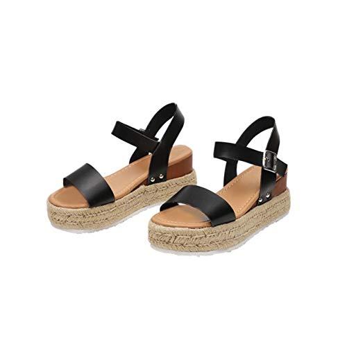 Summer Women Sandals Wedges Platform High Heels Shoes Woman Comfort Chaussures Beach Femme Sandalias Mujer 2019 Army Green 7.5