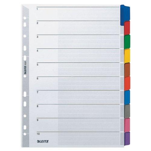 Leitz Kartonregister (Blanko, A4, 297 mm, 10 Blatt) grau