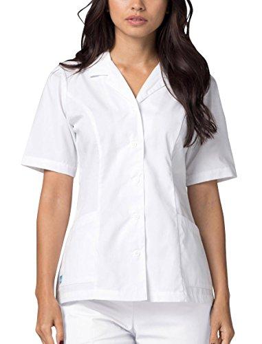 Adar Universal Lapel Collar Nurse Top - 605 - White - XS