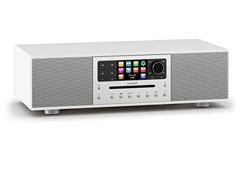 Meisterstück by sonoro - Performance pur - Kompaktanlage mit Internetradio, Multiroom, Digitalradio, Spotify Connect, Wlan (Weiß)