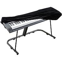 Funda para piano Smartrich, funda elástica ajustable de terciopelo para teclado digital, cubierta antipolvo para teclado electrónico de 88 teclas, piano digital, negro