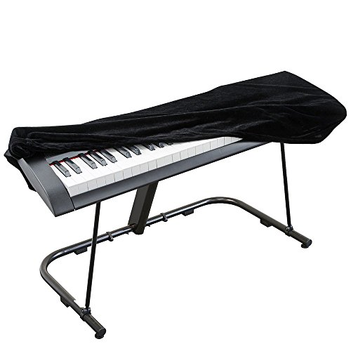 SmartRICH, copertura in velluto per pianoforte digitale a 88 tasti, per pianola elettrica, copertura elastica, regolabile, antipolvere, Black